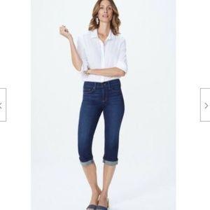 NYDJ Jeans Marilyn Crop Cuff Jean in Bezel Wash
